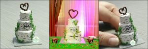 Commission - Birch Tree Wedding Cake by Bon-AppetEats