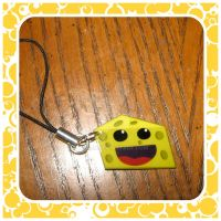 Cheese Cell Phone Charm by quazo
