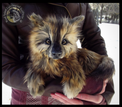 -SOLD-HAND MADE Poseable LIFE SIZED Wolf Pup! by Wood-Splitter-Lee