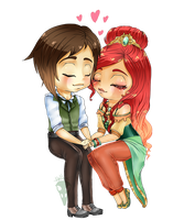 Contest Prize: Chibi Couple by HellAwaitsArts