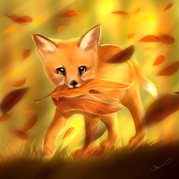Cute leafy thief by Martith