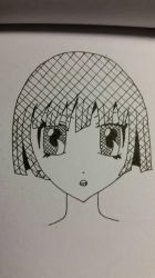 Crosshatched girl by AttackFly