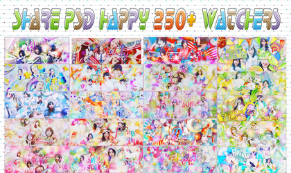 SHARE PSD HAPPY 250+ WATCHERS by Shundesigner