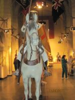 Replica man on horseback by Loved-is-a-Leo