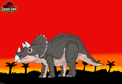 Jurassic Park 25th Anniversary: Baby Triceratops by TrefRex