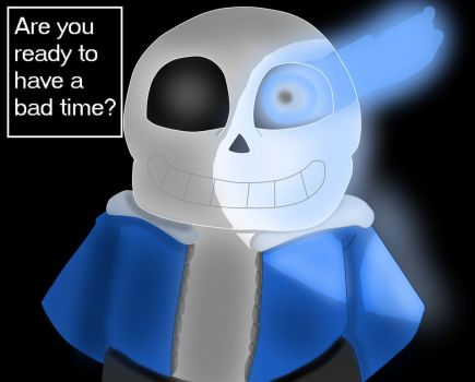 Sans with Quote by vampireknight16