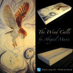 The Wind Calls, Wood Print by Artist-AbigailMarie