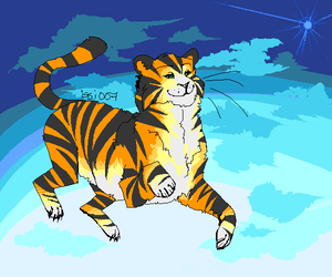 Tiger in Space by issi007