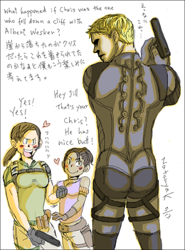 Chris, Jill and Sheva from Resident Evil5 by 7to8san