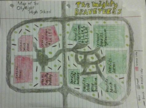 Olymight High School map (The Mighty Braveteers) by nugapug