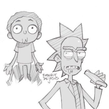 Rick and Morty by Banzchan
