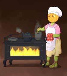 Commission: Gladys cooking by Foxhatart