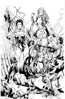Xmen ladies inks by JosephLSilver