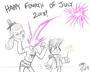 Fourth of July 2018 Quick Sketch! by MinionKing