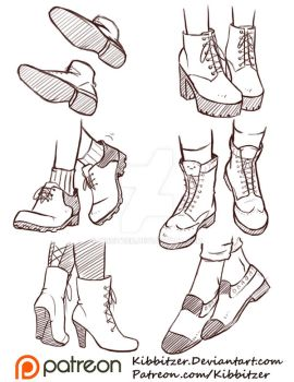 Shoes Reference Sheet 2 by Kibbitzer