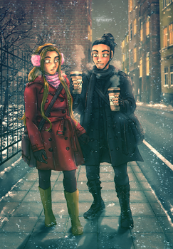 Walking Home - Marinna and Vitold by neshirys