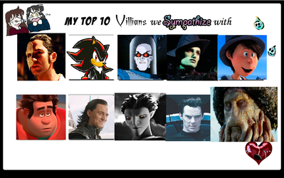 Top Ten Villains I feel sorry for by GamerGirl14