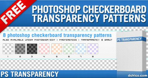 Photoshop Transparency Pattern by DesignFathoms