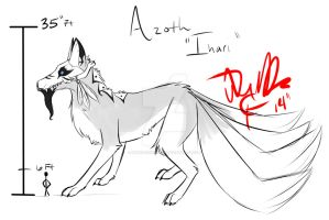 Azoth Beast form Height by MadCheshireFox