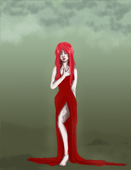 Daily Drawing: Red Dragon Lady by Exeidur