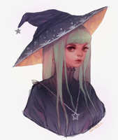 witch doodle by sachcell