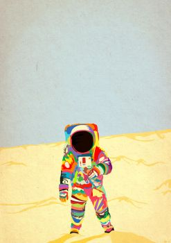 on the moon by JeremiC