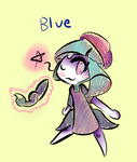 Blue Meloetta by Melle-Turntable