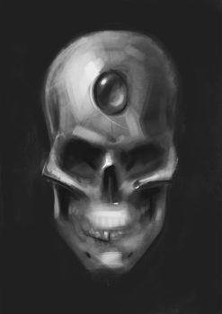 Skull Thingy Sketch. by Brainfruit