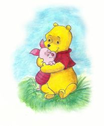 Winnie and Piglet by TurquoiseSpark
