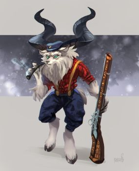 Petrovich the goat by RikkuTakedo