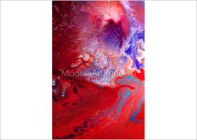 Space Storm - abstract mixed media painting by ModernArtPrints