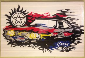 Supernatural Impala by DuctTapeDesigns