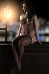 Gina night in lace 2 by FranPHolland