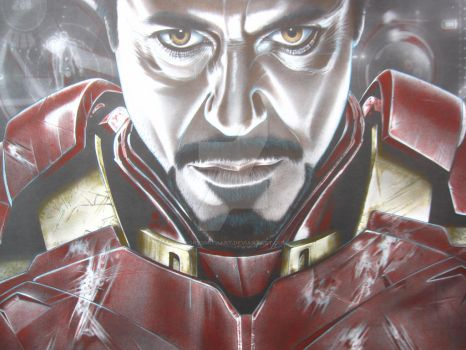 Colored Up Tony Stark Iron-Man by corysmithart