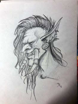 Traditional troll doodle by Deesketches