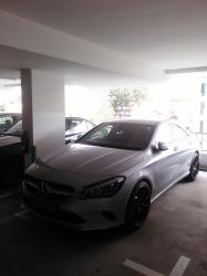 Light Grey Mercedes Benz CLA45 AMG by Amgnismo