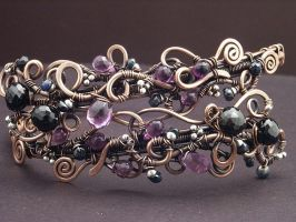 Violet Upper Arm Band by WiredElements