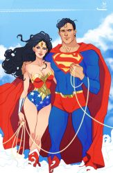 Fan art of Superman and Wonder Woman by MargueriteSauvage