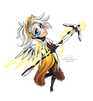 Chibi Overwatch :: Mercy by Nadiaxel