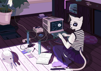 lazy afternoon/video games by idioticbat