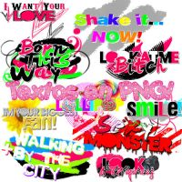 1O Textos en PNG by PartyWithTheStars