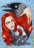 The Morrigan Sketch Card - Kate Bradley by Pernastudios