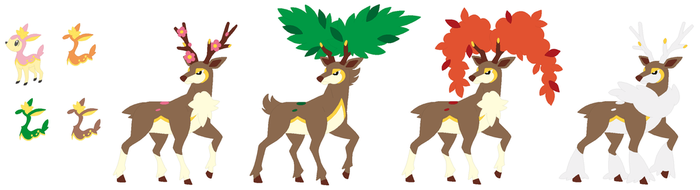 Deerling and Sawsbuck Base by SelenaEde
