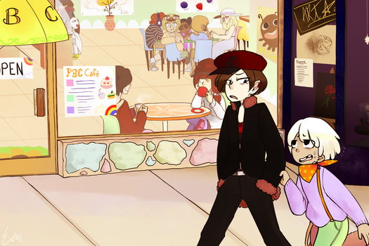 TAOF: Daytime Cafe by fourtimesthesweets