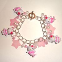 Hello Kitty Charm Bracelet by AndyGlamasaurus