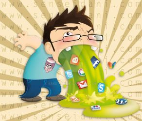 I ate too much social networks by sake-kun