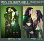 Draw this again! Meme - Loki/Lady Loki 2012 - 2018 by LadyKraken
