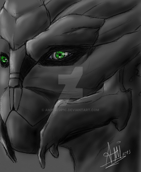 Turian face - finished
