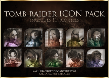 Tomb Raider Icon Pack - FREE DOWNLOAD by kakilaracroft