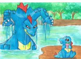 Totodile and Feraligatr